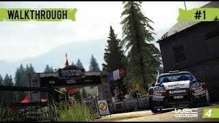 WRC 4 Career Mode Gameplay Walkthrough - Part 1 My First Stage!