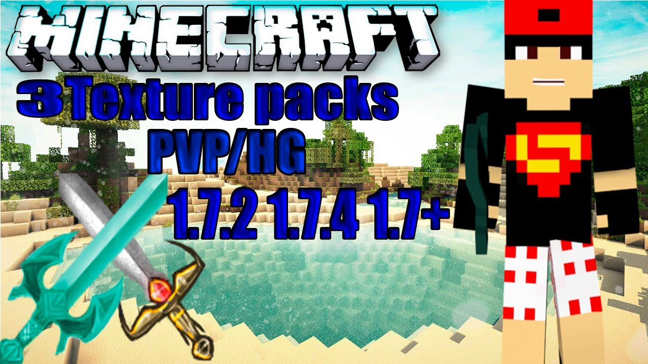 Texture Packs 1.7.2/1.7.4 PVP HG - YouTube