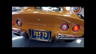 1972 Corvette - 383ci Stroker, Orange/Saddle, Auto, PS, PB, AC - Seven Hills Motorcars