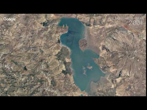 Google Timelapse: Lake Urmia, Iran