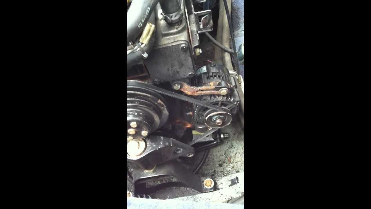 For A Chevy 350 Starter Motor Wiring Diagram Mercruiser 3 0l Quot V Quot Belt Installation Youtube