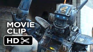 Chappie movie clip - real gangster (2015) - hugh jackman, dev patel robot movie hd