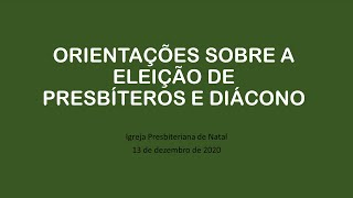 Orientações Eleições 2020