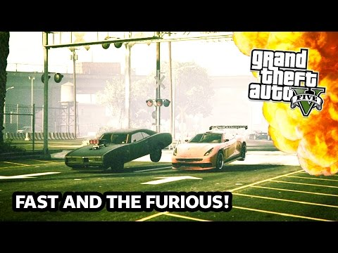 GTA 5 Online FAST AND THE FURIOUS Special! GTA 5 Stunts, Jumps & EPIC Racing! (GTA 5 PS4 Gameplay)