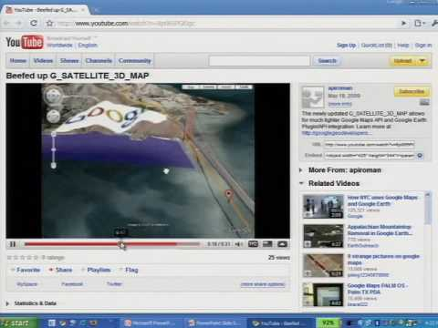 Google I/O 2009 - Advanced 3D Geo Apps for Web: Earth API