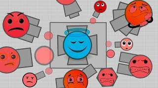 TO GET INTO THE MAZE WALL  FUNNY Diep.io moments