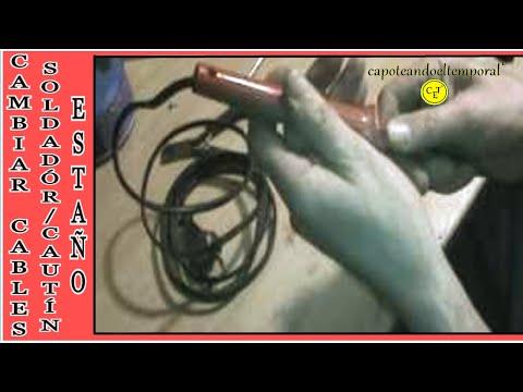 Como cambiar el cable en soldador de esta o o caut n as - Soldador de estano ...