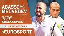 Andre Agassi vs Andrei Medvedev | French Open 1999 Men's Final Highlights | Eurosport