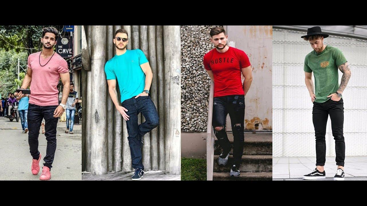 [VIDEO] - Men's Casual Style Inspiration Lookbook 2019   Men's T Shirt & Black Pant Style 2019   PBL 9
