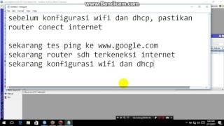 konfigurasi wifi dan dhcp server