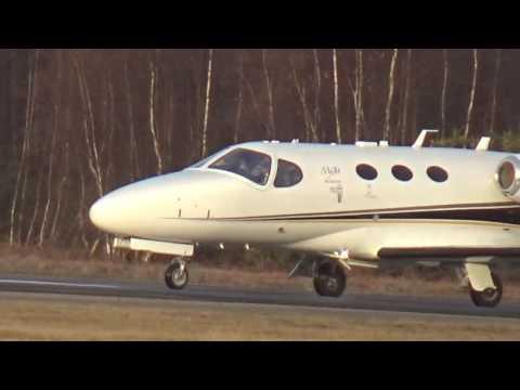 Blink Cessna Citation 510 Mustang G-FBKG taking off from Blackbushe Airport