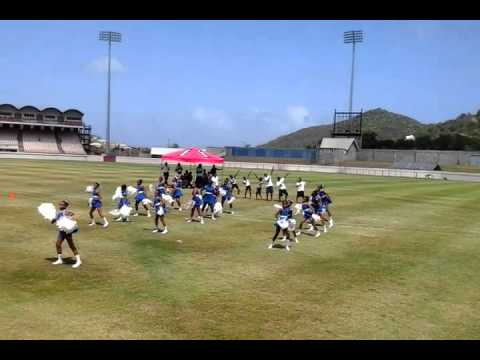 Cheerleading at district sports st.lucian style