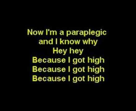 Karaoke Because I Got High Afroman