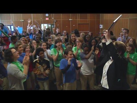 Allegro Charter School of Music receives the News 2 Cool School award