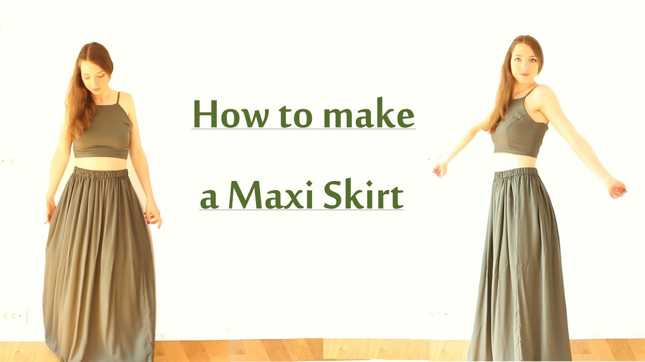 Diy Maxi Skirt Sew Wear Ep 7