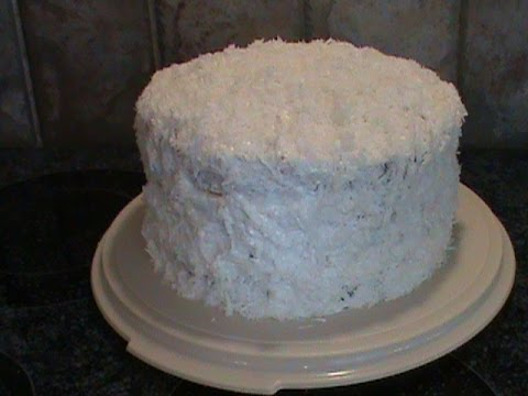 Old-Fashion 1950's Coconut Layer Cake