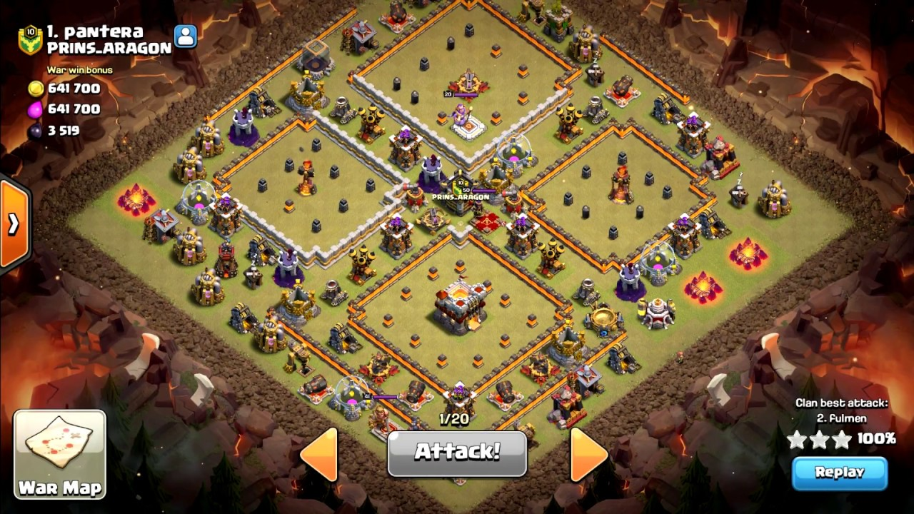 Best Th11 War Base Without Eagle Artillery 2018 6