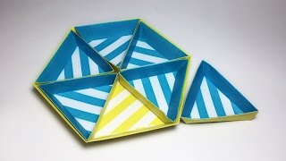 HEXAGON BOLD STRIPES PAPER TRAY TUTORIAL !
