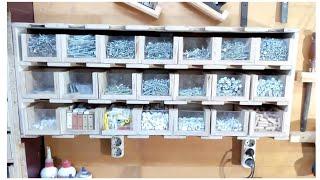 Ahşap Vida Civata Kutuları Yapımı / Small Boxes Making / Screw Box Making