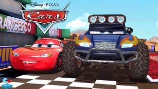 Disney Cars Monster Trucks vs Lightning McQueen Tow Mater and Fillmore (Disney Pixar Cars)