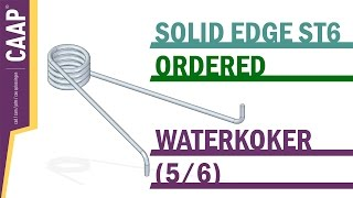Solid Edge - Part - Sketches Sweep Helix Pattern - Waterkoker