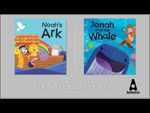 Magic Bible Bath Books: Jonah and the Whale & Noah's Ark
