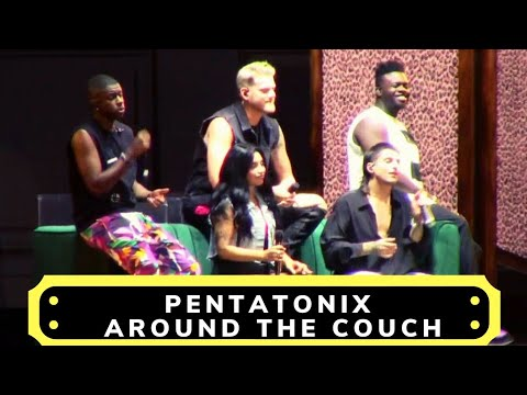 Pentatonix around the couch Iowa State Fair August 2019