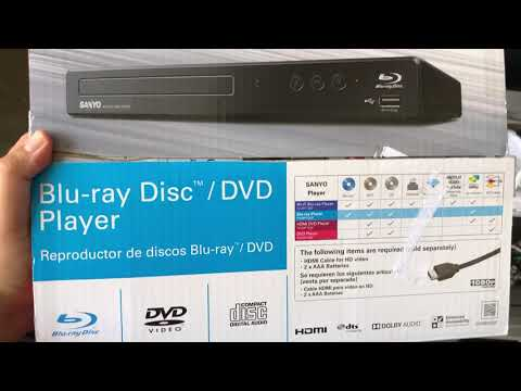 SANYO PORTABLE BLUE-RAY/ DVD PLAYER ( COMES WITH A REMOTE AND INSTRUCTIONS) REVIEW