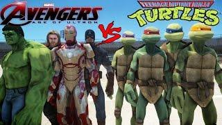 the avengers vs teenage mutant ninja turtles epic battle