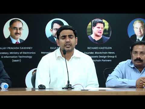 Hon' IT Minister Sri Nara Lokesh launches Blockchain Business Conference