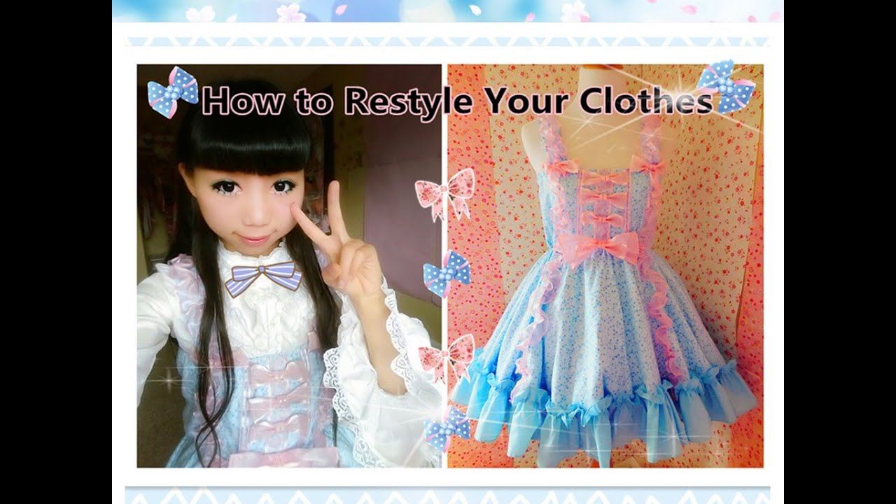 DIY Kawaii Dress - How to Restyle Your Clothes to Lolita Dress-Lolita ...
