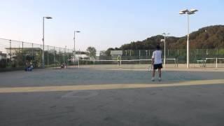 村山市民テニス大会 男子シングルス 決勝 2014/10/12 その4