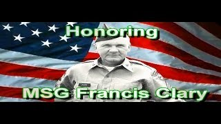 MSG Francis Clary Honors