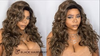Melanin Queen? 🤔 Now that's a name! Mane Concept Wig review | Ft. BlackHairspray.com