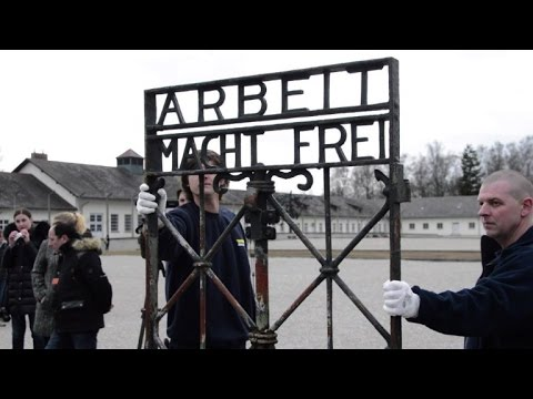 Stolen 'Work will set you free' gate returned to Dachau