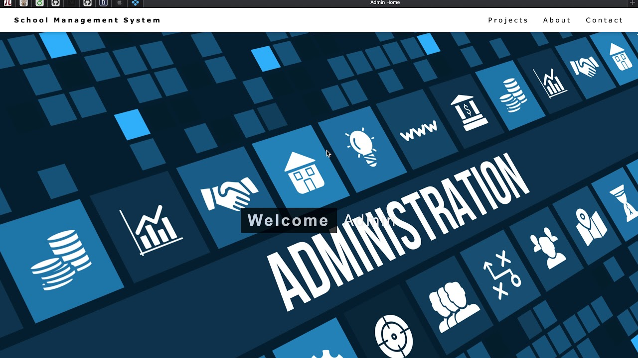 School Management System Project in PHP and MySQL - Admin Module