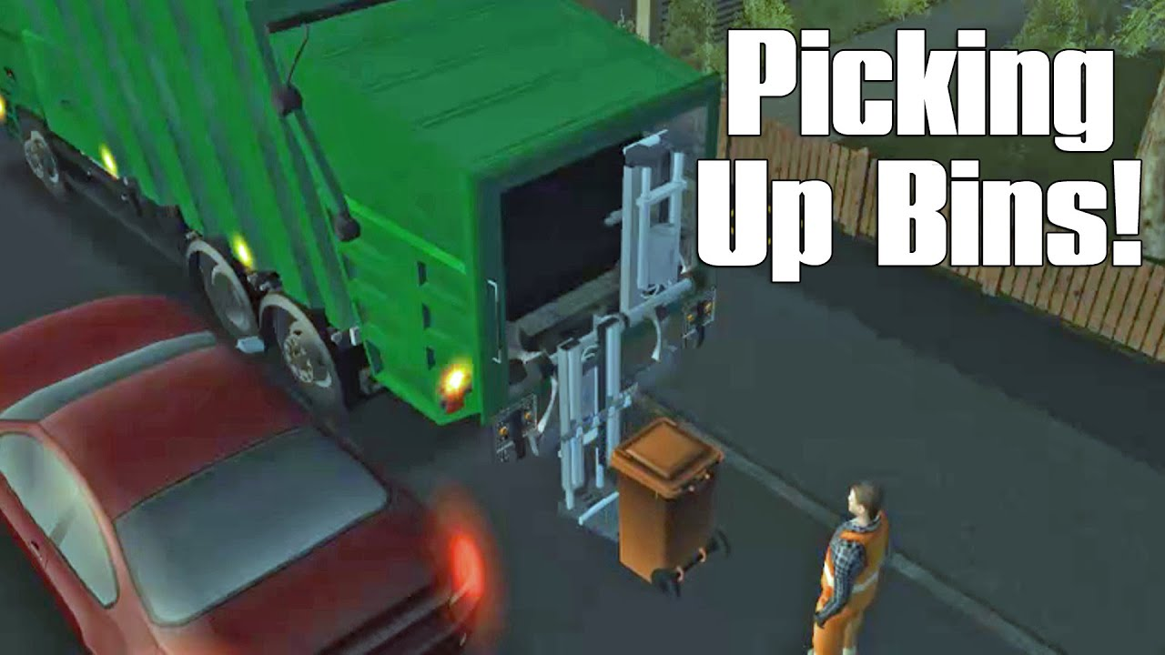 garbage truck simulator game episode 2 picking up trash bins