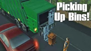 Garbage Truck Simulator Game - Episode #2 - Picking Up Trash Bins!