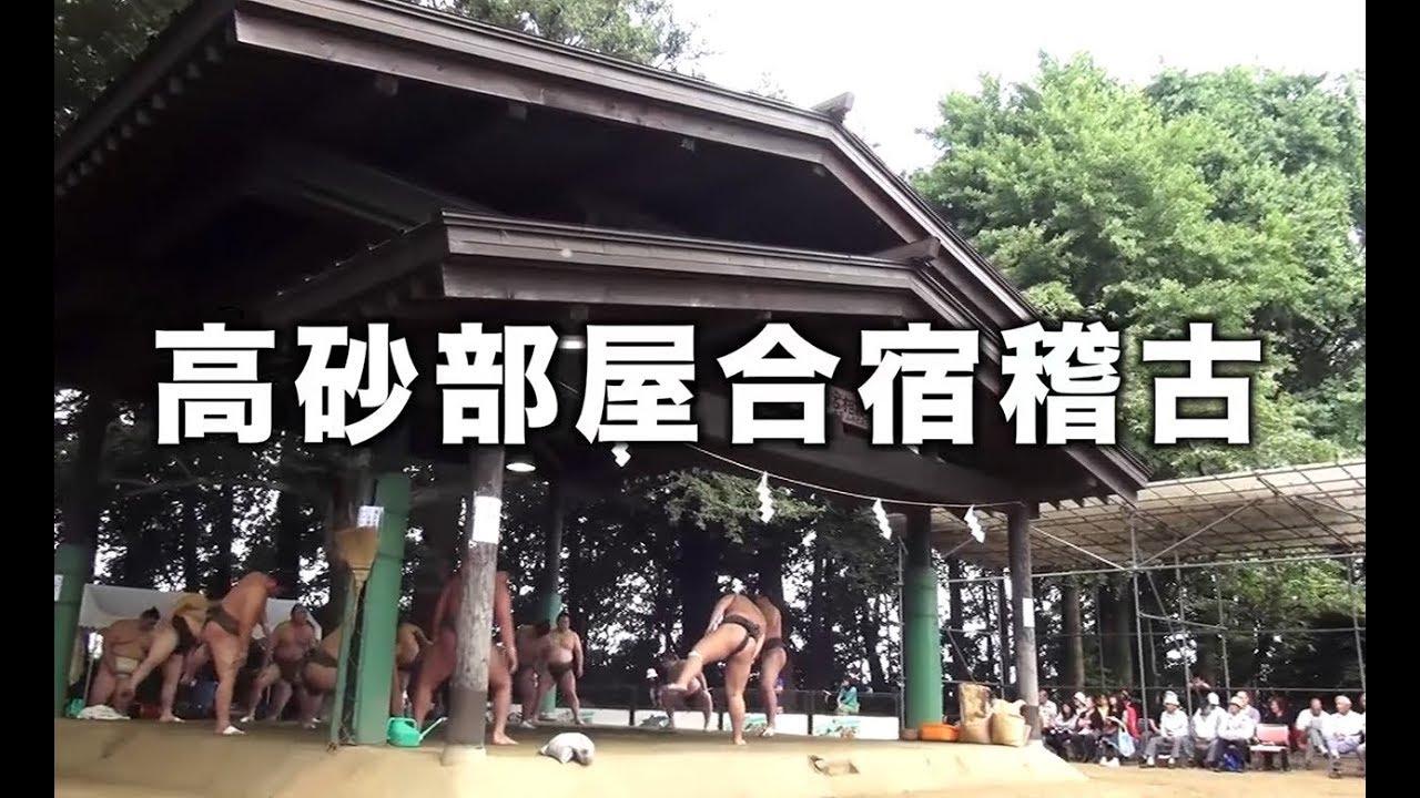茨城県下妻市-関東最古の八幡様:大宝八幡宮の相撲稽古(高砂・錦戸部屋)