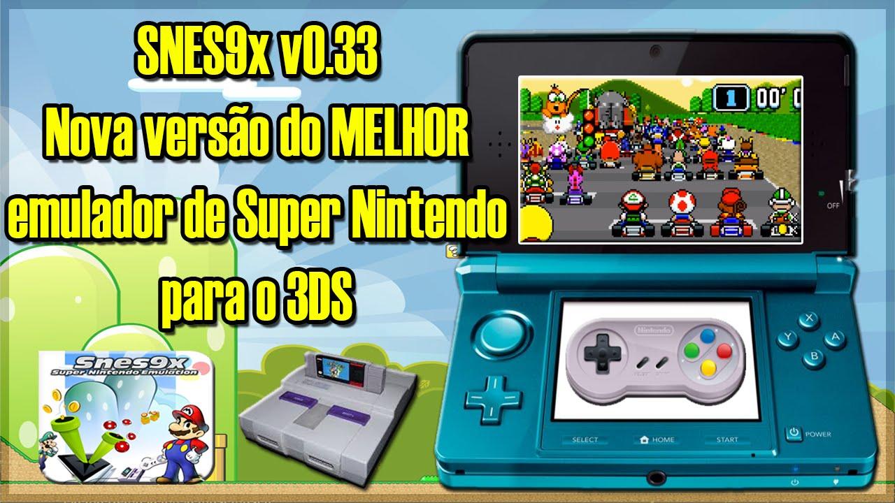 [3DS] SNES9x for Old3DS v0 35 - Atualização do MELHOR emulador de Super  Nintendo para 3DS