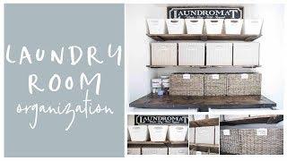 Farmhouse Laundry Room Tour and Organization