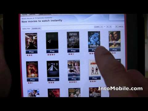 Netflix iPad app demo  Movie and TV  selection