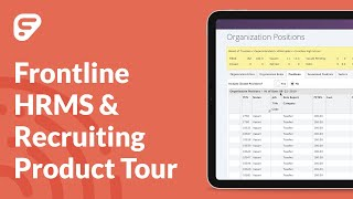Product tour: frontline hrms & recruiting empowers your hr team to drive talent, compensation, benefits, and position management....