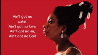 Ain't Got No - I Got Life -  Nina Simone