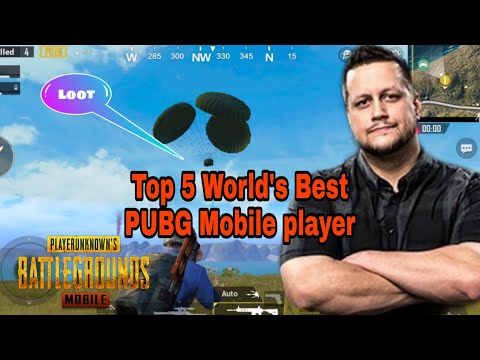 Top 5 World's Best | PRO PUBG Mobile Players : PUBATTLEGROUNDS
