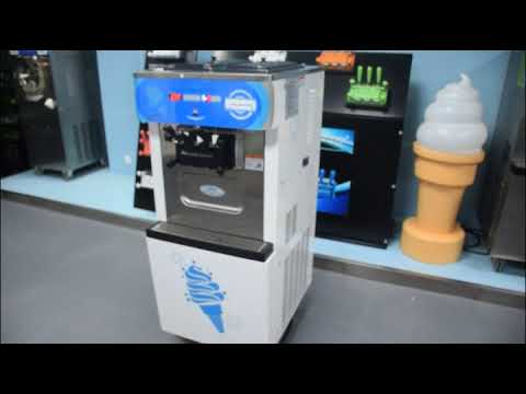 OceanPower Soft Ice Cream Machine/Frozen Yogurt Machine OP138C Operation Video