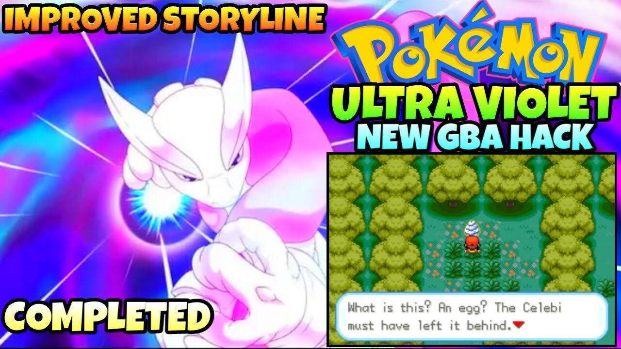 Pokemon Ultra Violet - Completed GBA ROM Hack 2018 With 2 Regions!!  |Gameplay + Download|