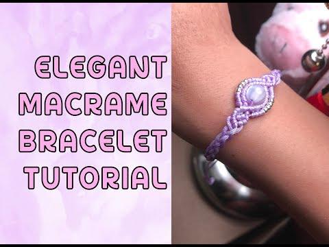 Elegant Macrame Bracelet Tutorial / Original Design