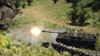 War Thunder Бой Pz Kpfw  Vi Tiger Ausf  H1 и на Pz Bfw Jagdpanter