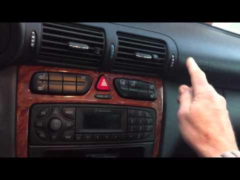 Mercedes w203 HVAC  climate control , vent flap test/reset